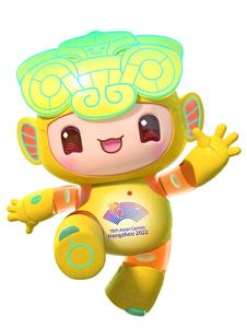 """杭州2022年第19届亚运会吉祥物""""琮琮""""logo"""